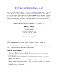 Electrician Resume Example Alluring Resume Of Industrial Electrician In Electrician Cover
