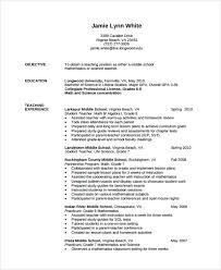 Sample Resume Of Teacher by Teacher Resume Template Word