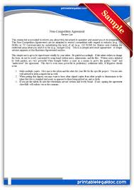 10 Contractor Non Compete Agreement Free Printable Non Compete Employee Form Generic