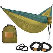 greenmall double portable camping hammock soft breathable