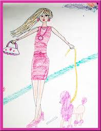 barbie doll u0026 puppy drawing kidzy planet