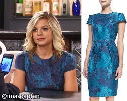 gh maxies hair feb 13th 2015 i m a soap fan maxie jones s teal blue floral jacquard dress