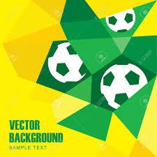 Flag Football Play Designer Polygon Soccer Football Background With Balls In Brazilian Flag