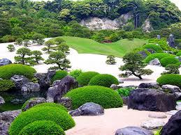 misc japanese garden rock bush green nature free desktop