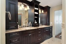 Built In Bathroom Cabinets Custom Built Bathroom Vanity Wood Top Bathroom Popular