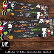 halloween party e invitations halloween ticket birthday invitations kids party halloween
