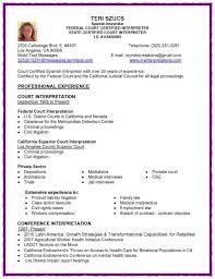 medical interpreter resume sample experience resumes
