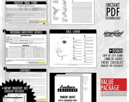 makeup contracts for weddings makeup artist etsy