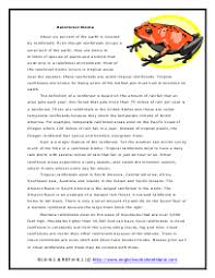biomes reading comprehension worksheets