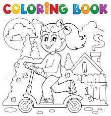 coloring book kids play theme royalty free cliparts vectors and