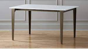 paradigm carrara marble kitchen table cb2