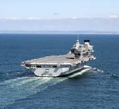 hms queen elizabeth to reach portsmouth this morning daily mail