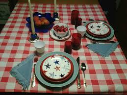 Fourth Of July Tablecloths by Virginia Retro Breakfast Tablescape For 4th Of July