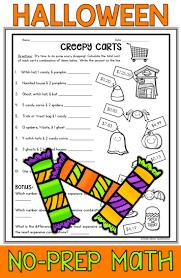 halloween math packet no prep halloween math worksheets prime