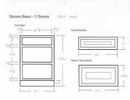 3 Drawer Base Cabinet Glazed Drawer Base Cabinet Db12