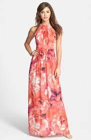eliza j print chiffon maxi dress nordstrom vestidos