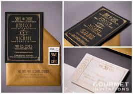 Art Deco Wedding Art Deco Wedding Invitations Gourmet Invitations