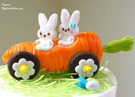 Easter Decorated Carrot Cake by Carrot Car Cake Topper Rollin U0027 With My Peeps My Cake