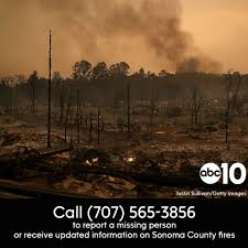 California Wildfires Yahoo by Over 100 Reported Missing In Sonoma County Wildfire Abc10 Com
