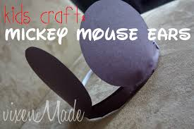 kids craft mickey mouse ears vixenmade parties
