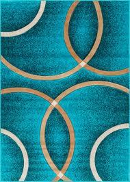 Blue Modern Rug Circo Light Blue Modern Geometric Rings Circles Lines Carved