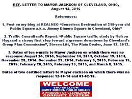 letter to mayor jackson open superior avenue u0026 reimburse rta for
