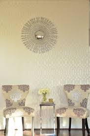 a glamorous trellis stenciled accent wall stencil stories