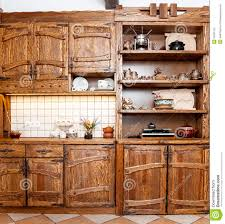 wooden furniture for kitchen furniture for kitchen in country style stock photography image