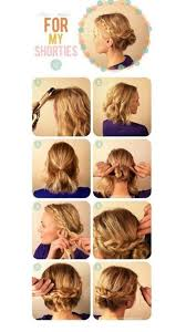 step by step braid short hair trying this one cute updo for short http hair accessories