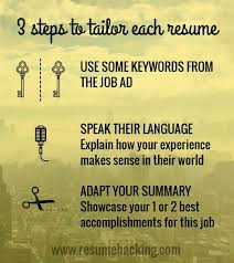 Tailor Resume To Job by Tailor Your Resume For Impact Resume Hacking