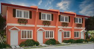 Camella Homes Interior Design 100 House Model Photos Paper Model House Yellow Stock Image