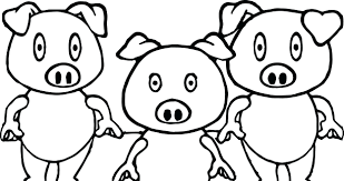 pig coloring template pigs pages peppa