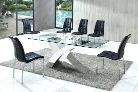 glass and chrome dining table chrome dining table vanluedesign