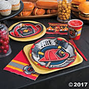 firefighter cupcake toppers firefighter party supplies decorations