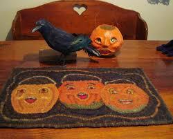 halloween rug saundra of woodland junction october 2014