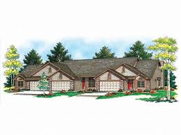 Multifamily Home Multi Family House Plans Triplexes U0026 Townhouses U2013 The House Plan Shop