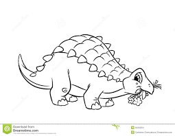 dinosaur ankylosaurus coloring pages stock images image 35333254