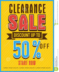 clearance sale flyer banner or template stock image image