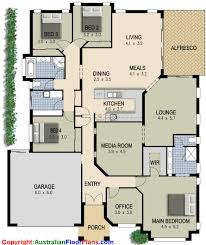 simple 4 bedroom house plans simple 4 bedroom house designs ranch house floor plans 4 alluring