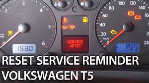 how to reset service interval in transporter caravelle multivan vw