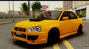subaru yellow subaru impreza wrx sti 2005 romanian edition for gta san andreas