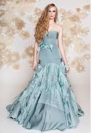 blue wedding dress drop waist mermaid idotaketwo com