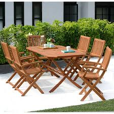 robert dyas fsc country hardwood 6 seater furniture set from