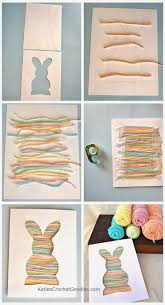 Easter Decorations Clipart by Easy Easter Craft For Toddlers Bunny Silhouette Yarn Craft
