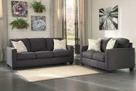 alenya charcoal living room sofa u0026 loveseat set by ashley