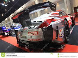 nissan 350z race car nissan 350z gt3 sport car bangkok auto salon editorial image