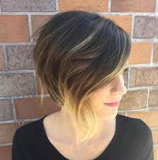 asymetrical ans stacked hairstyles 40 chic angled bob haircuts blonde balayage balayage and bobs