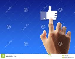 Facebook Icon by Press Facebook Like Button Editorial Photo Image 44897156