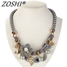chunky pearl fashion necklace images 2017 new fashion necklace collar flower necklaces pendants jpg