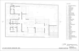 house plans by architects gallery of l plan house khosla associates 19